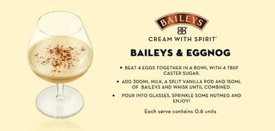 Bailey's and egg nog