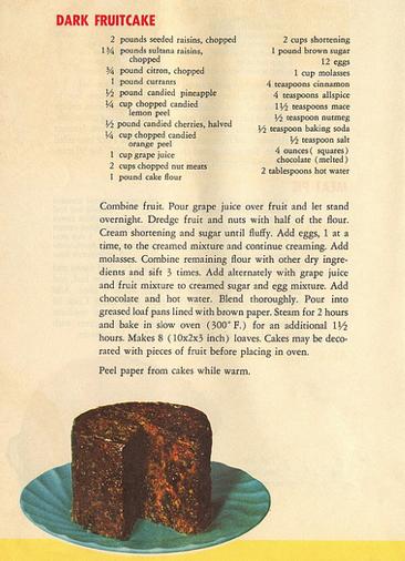 Dark fruitcake