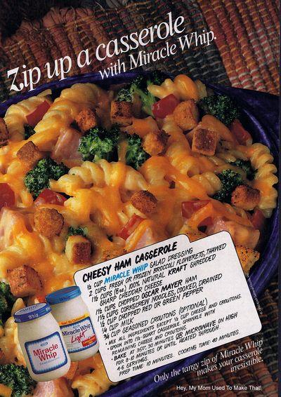 1990 ham + Cheese casserole