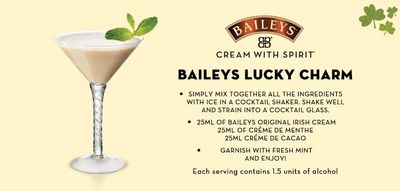 Bailey's st patrick's drink
