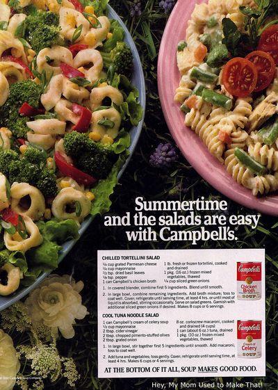 Campbells salads 1980