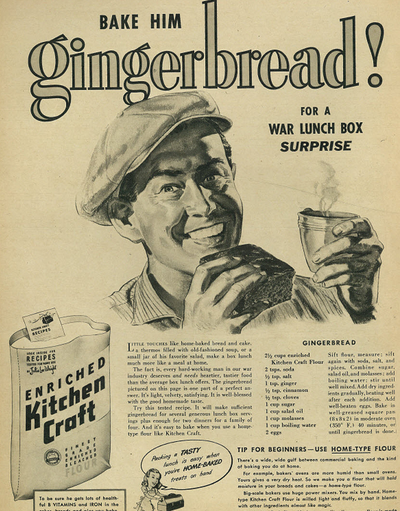 1942 recipe for gingerbread