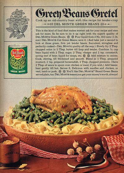 Retro green beans